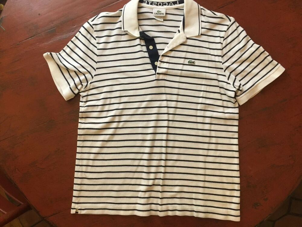 450b686c782 Mens Lacoste Polo Shirt Size 6 Blue And White Stripe  fashion  clothing   shoes  accessories  mensclothing  shirts (ebay link)