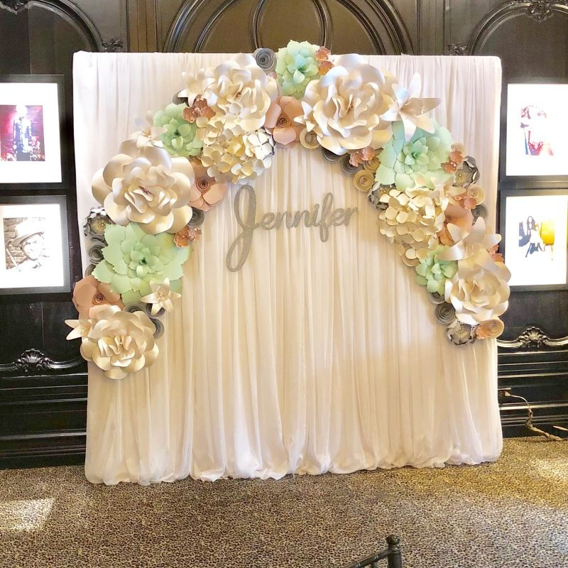 Paper Flower Wall Rental Paper Flower Wall Rentals And Paper Flower Arch Rental For Weddings Brid Paper Flower Wall Flower Wall Rental Giant Paper Flowers Diy