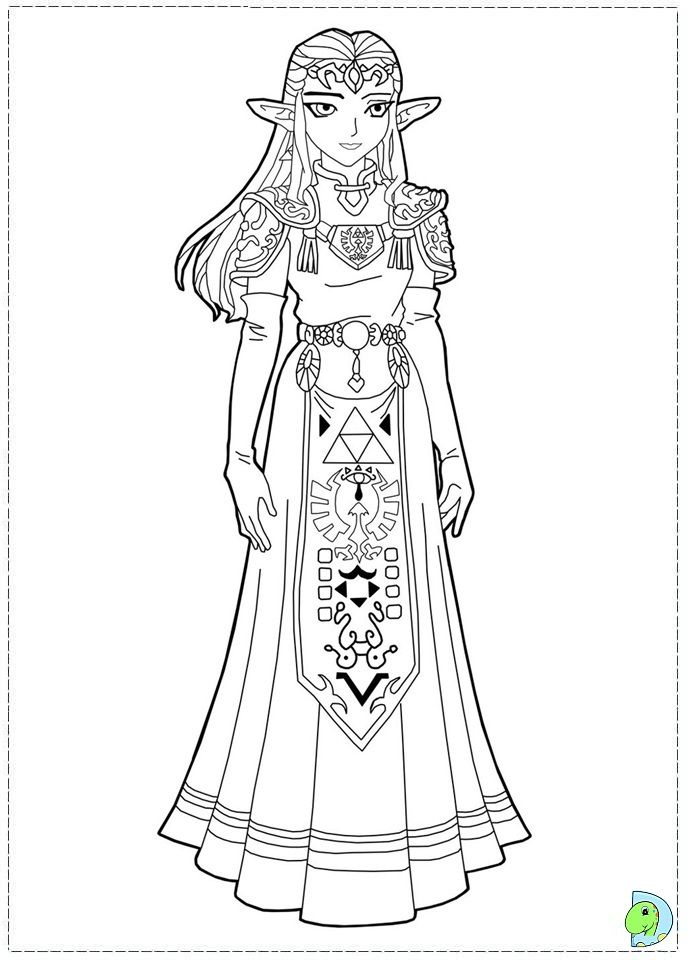 zelda coloring pages coloring pages - Zelda Coloring Pages