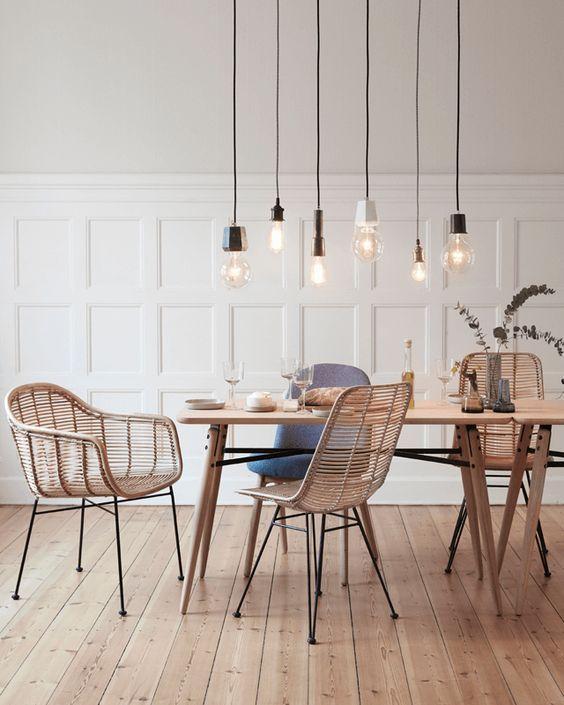 Mimbre y bambú, tendencias que nunca pasan de moda | Lámparas ...