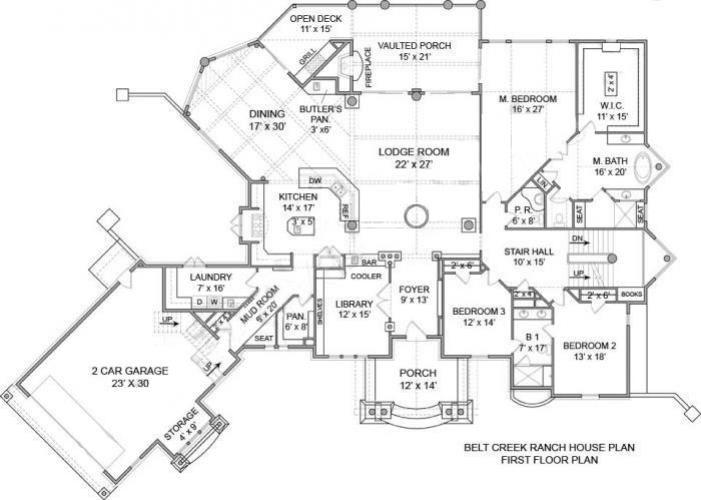 Belt Creek House Plan For Montana Style Custom Floor Plan Home Building Elegant House Plans Ranch House Plan Floor Plans Ranch House Plans