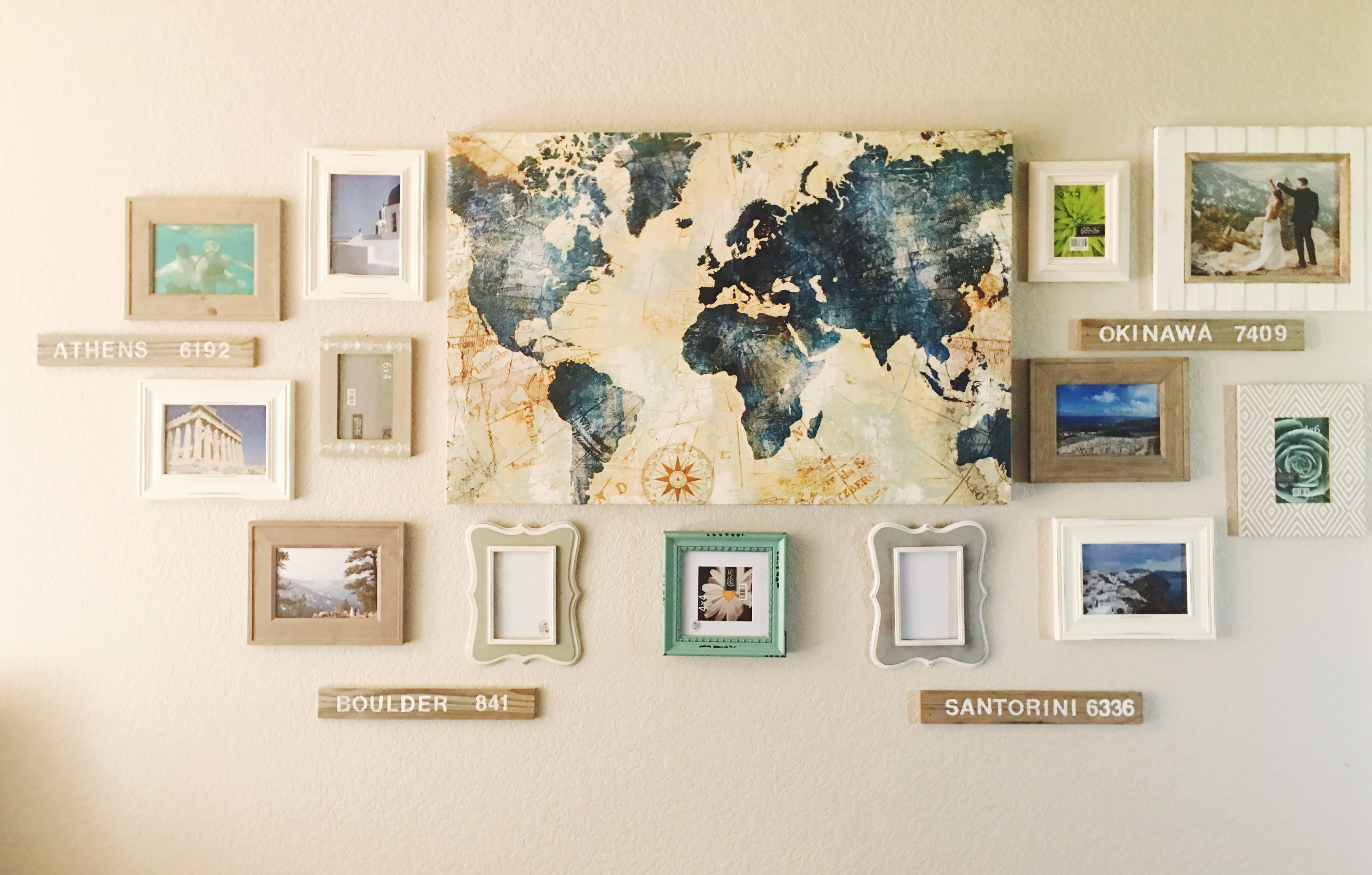 Diy Home Decor Travel Gallery Wall Adventures Explore