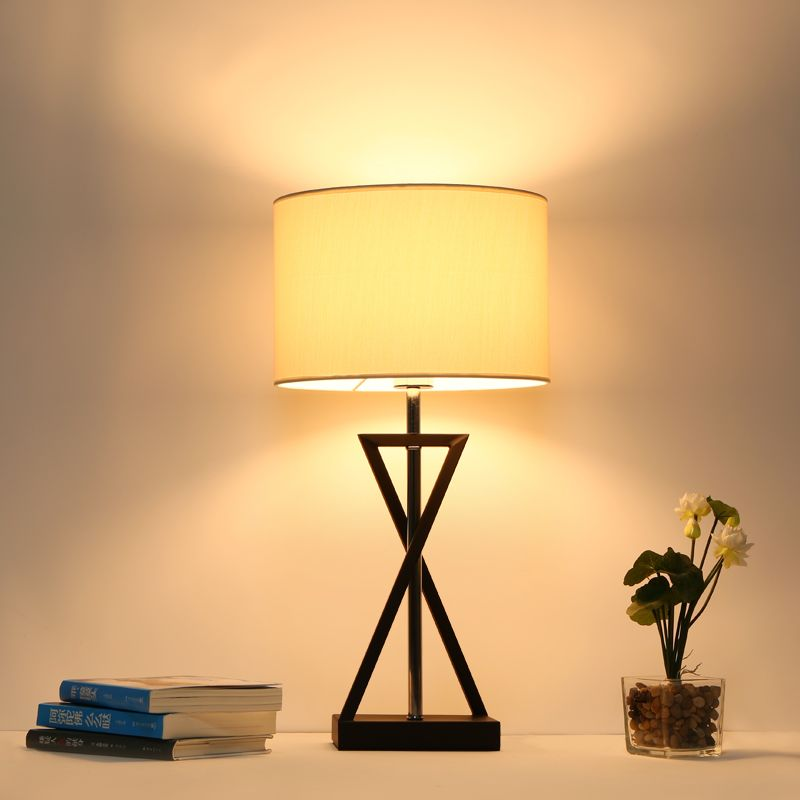 Find more table lamps information about mordern nordic fabric table table lamp bedroom bedside lamp e27 for decor living room desk lamp light fixtures luminaria abajourhigh quality e27 plugchina e27 e14 suppliers aloadofball Choice Image