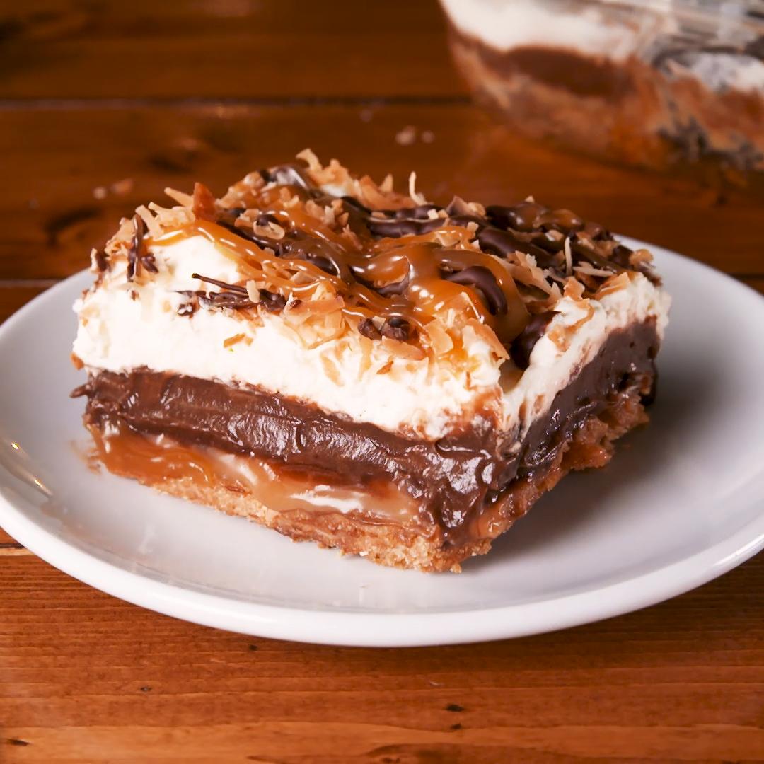 Photo of Samoa Dessert Lasagna