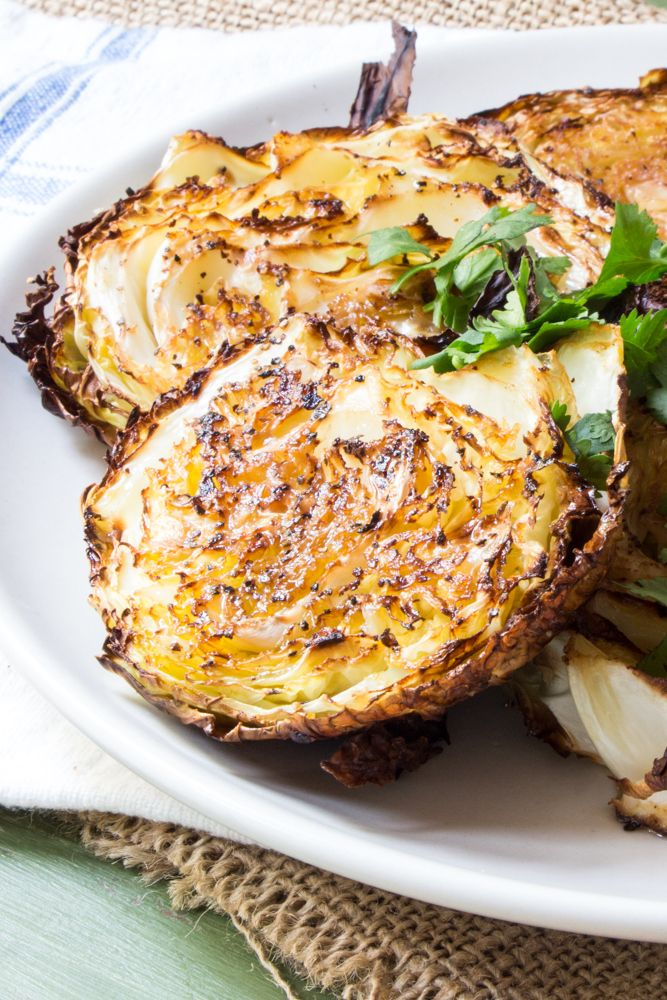 Garlicky Roasted Cabbage Steaks