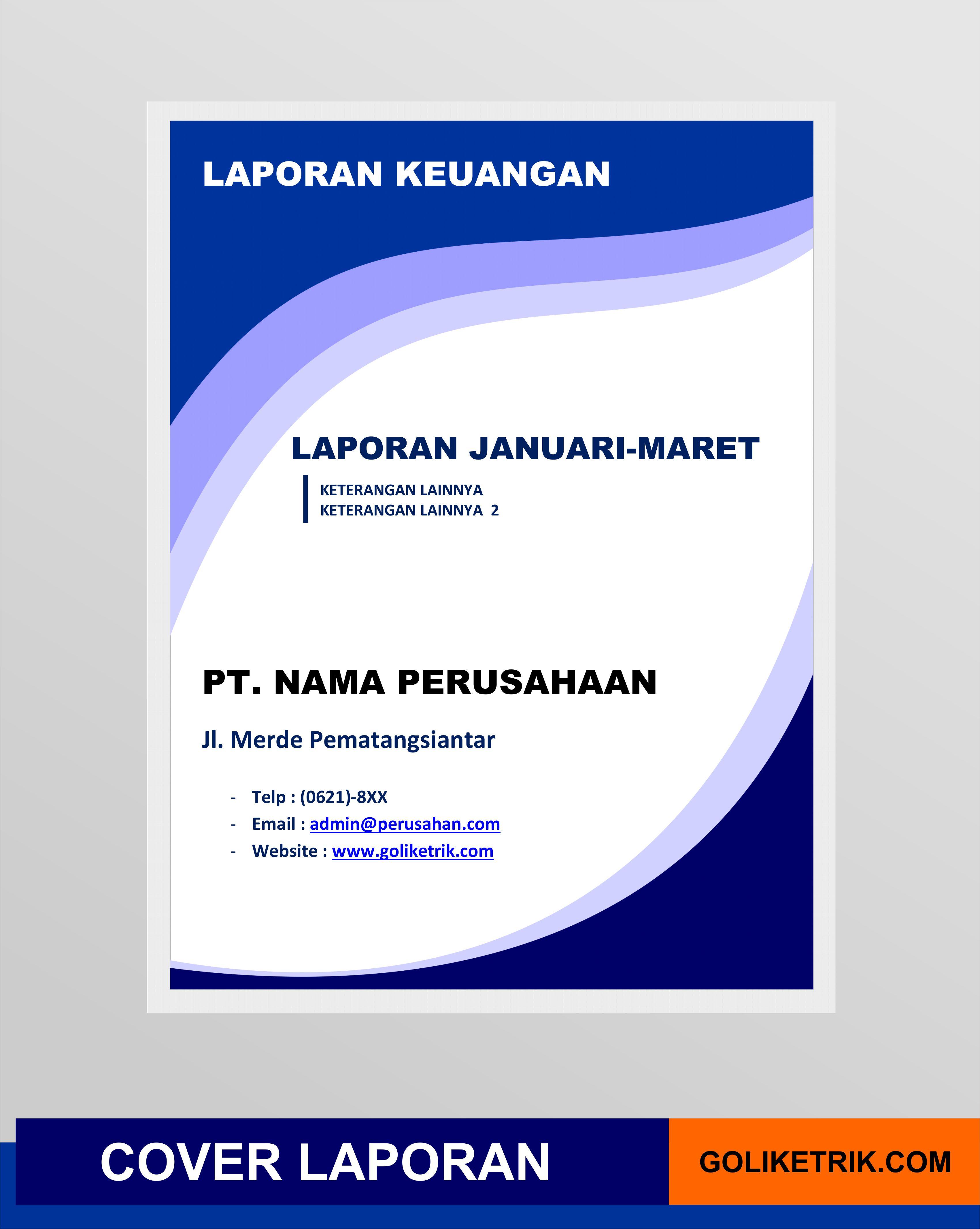 Cover Laporan Format Docx Word Versi 2 Di 2020 Keuangan Buku Laporan Keuangan