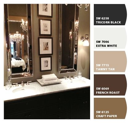 greys in bathroom - with red accents | For the apartment ...