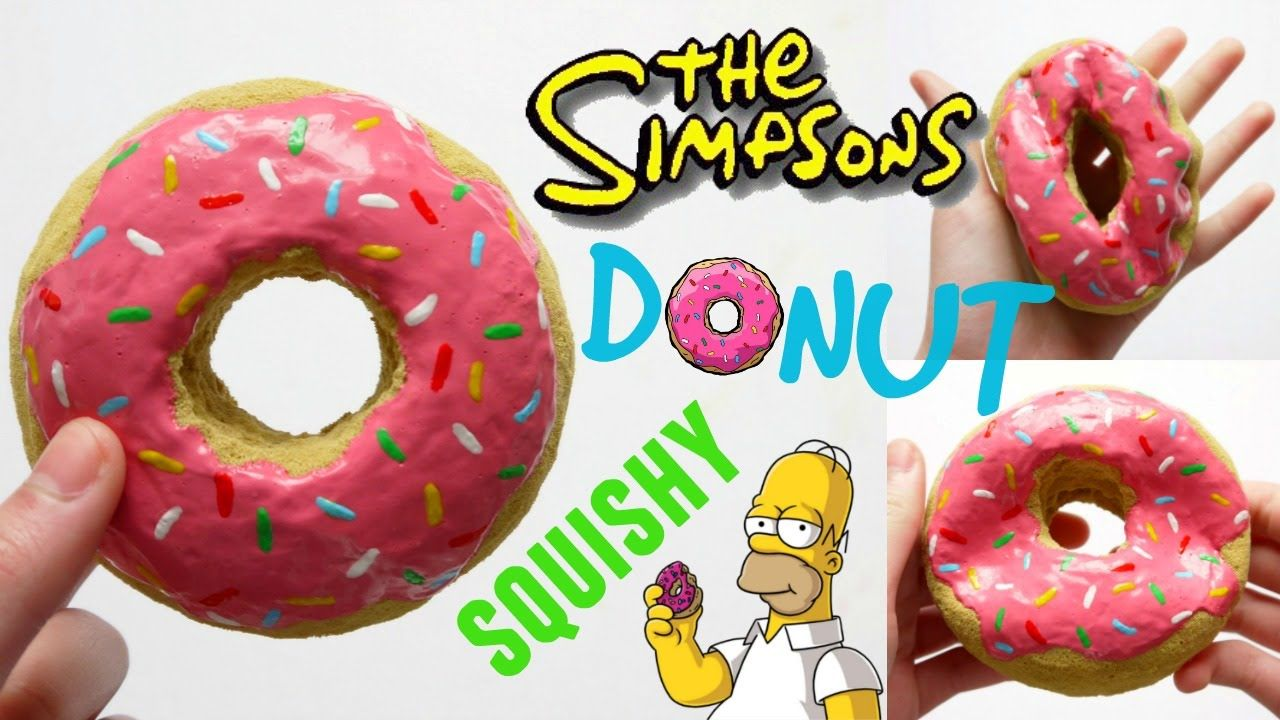 DIY SIMPSONS DONUT SQUISHY ~ Homemade Squishy Tutorial Projects to Try Pinterest Simpsons ...