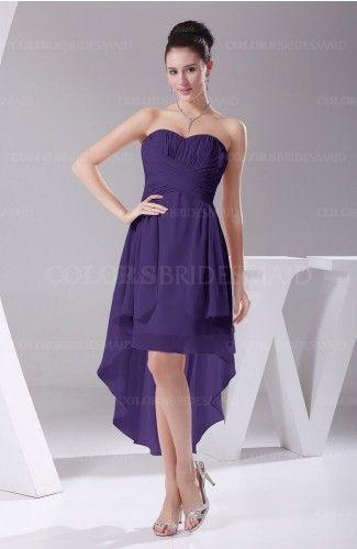 7ce92ceddea1 Dark Purple Hawaiian A-line Sleeveless Chiffon Tea Length https://m.