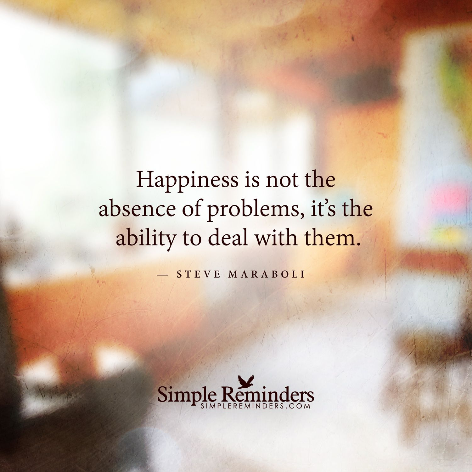 Quotes About Happiness Happiness Is Not The Absence Of Problems It's The Ability To Deal