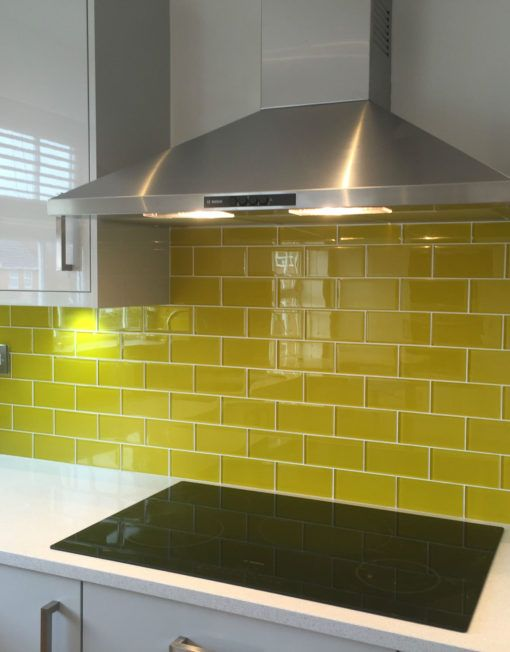 Yellow Metro Tiles | Kitchen | Pinterest