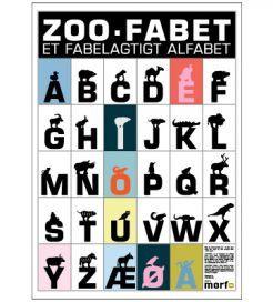 Fint grafisk børnealfabet · ZOO·FABET er design bogstaver i metal · ZOO·FABET A som i And