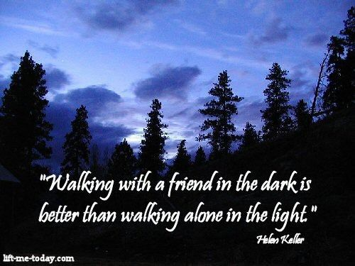 walking with a friend remember