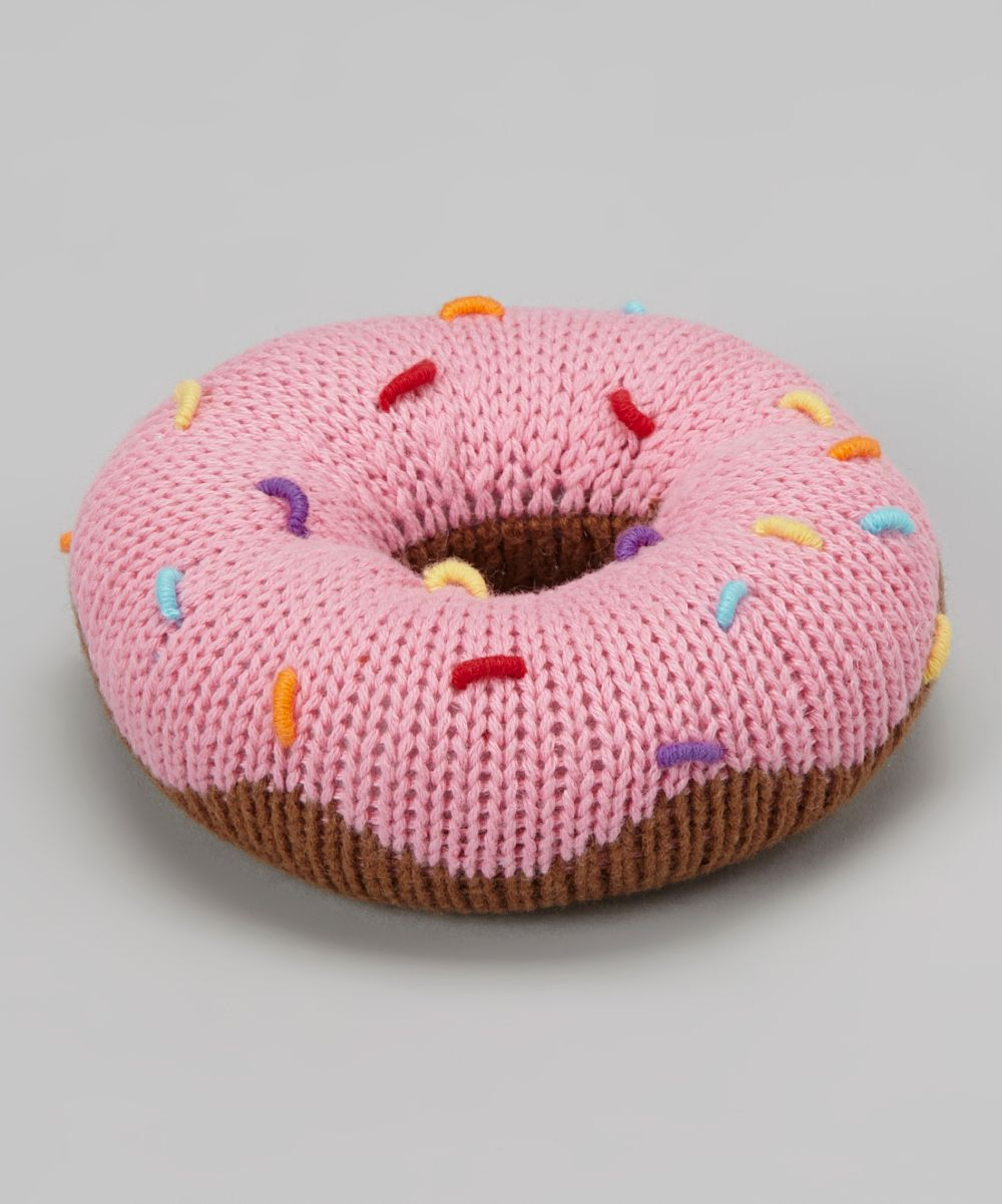 86d77f7226a Pink Sprinkle Donut Plush Rattle