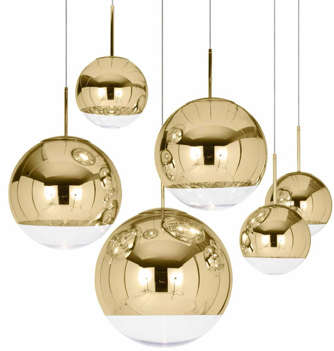 Tom Dixon Mirror Ball Gold Pendant Lamp Tom Dixon Ball Pendant Lighting Gold Pendant Lighting Glass Ball Pendant