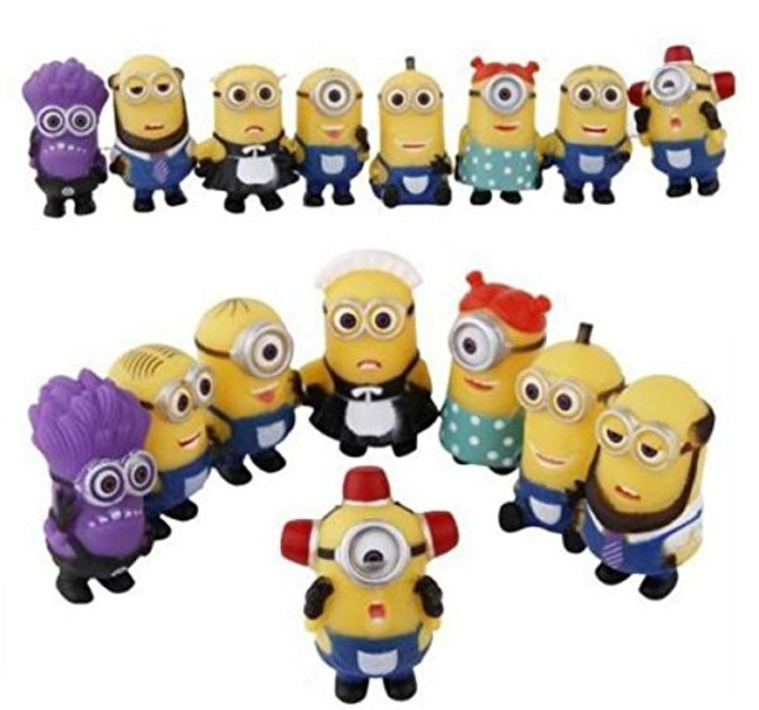 Despicable Me Minions Movie Action Figures Character Doll Toy Set of 8pcs 2.5/'/'