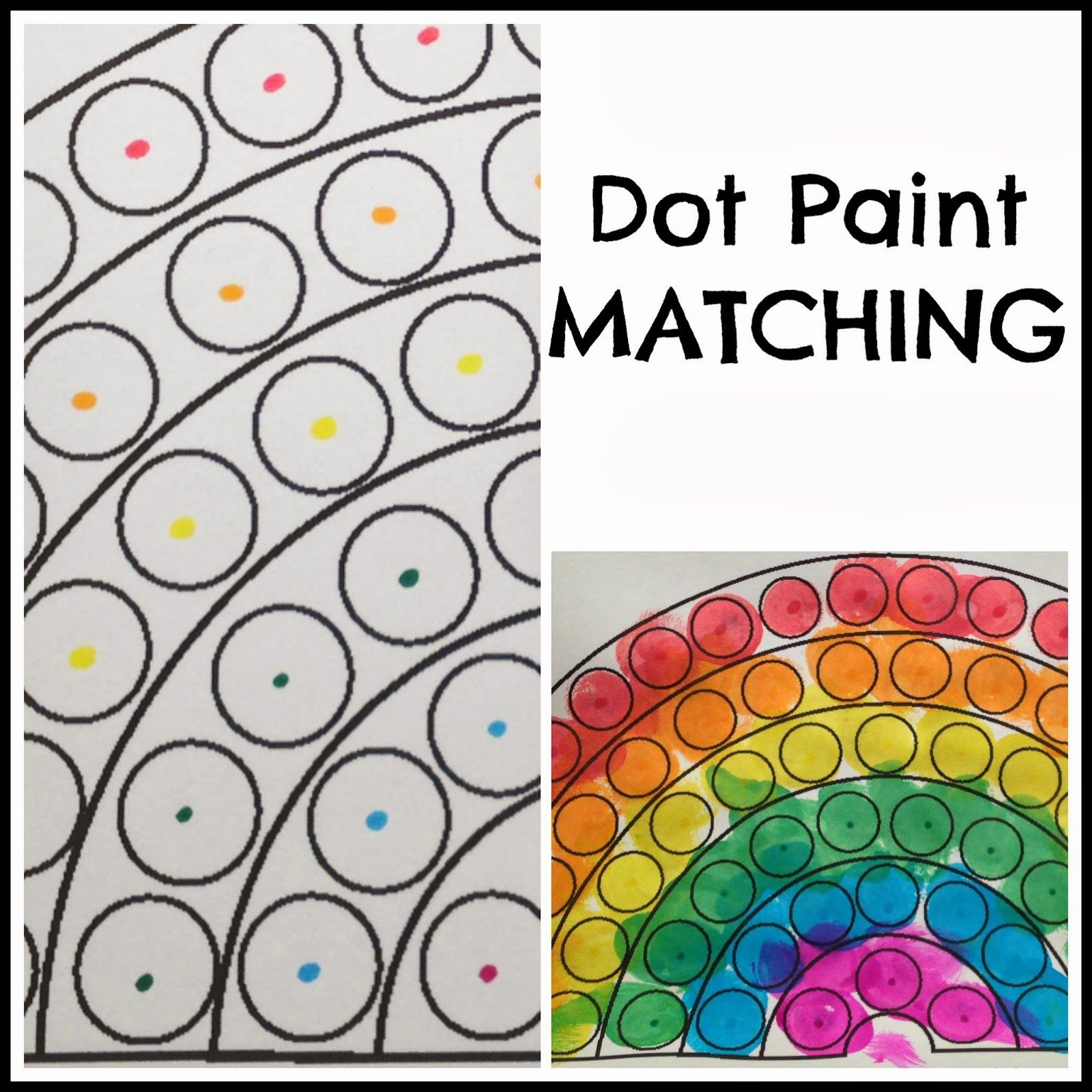 Printable color matching games for preschoolers - Toddler Dot Paint Activity Rainbow Theme Preschool Paint Color Matching Dot Paint