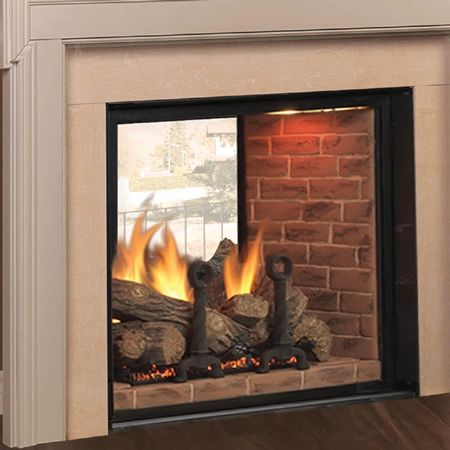 Covington Clear View See Through Direct Vent Fireplace 48 Woodlanddirect Com Indoor Fireplaces Gas Majestic Learnshopenjoy