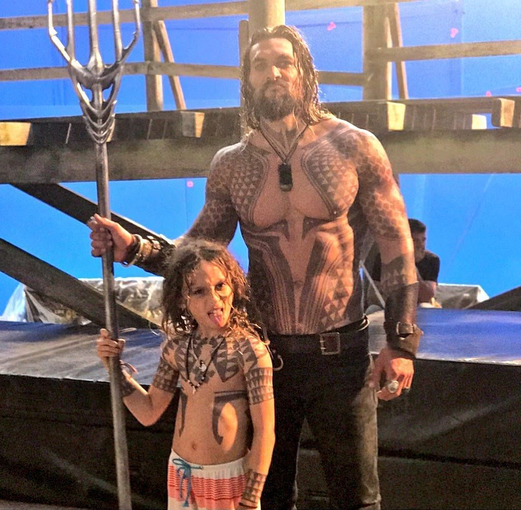 King Arthur And Arthur Jr Jason Momoa Aquaman Jason Momoa Aquaman