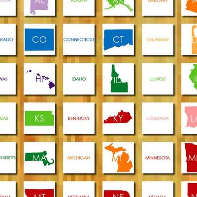 FLASH CARDS USA Pinterest US States Heart And Search - Us map label game