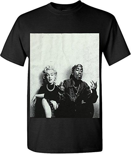 Discounted Hat and Beyond Hip Hop Legend Graphic T-Shirts Tupac Marilyn  Monroe Couple Logo New Edition (Medium) 3db45c92b00