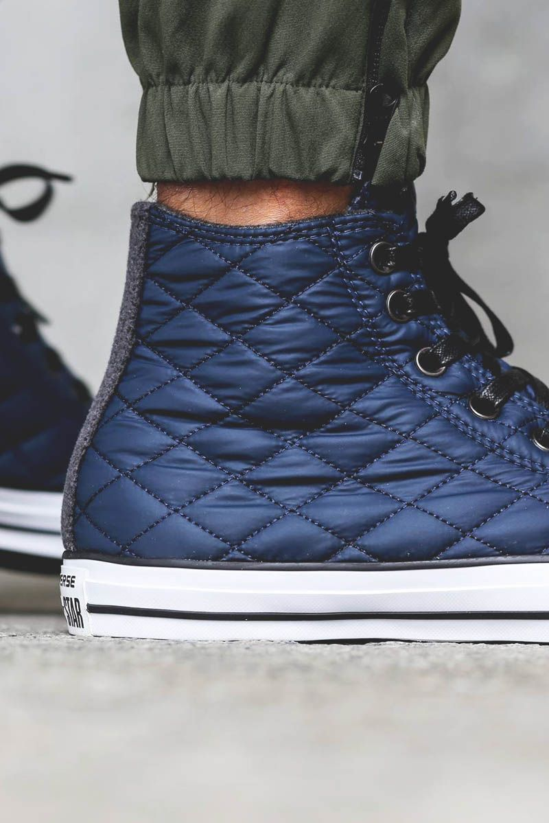 0cf4004b4212 Quilted Nylon CONVERSE All-Star Hi Navy