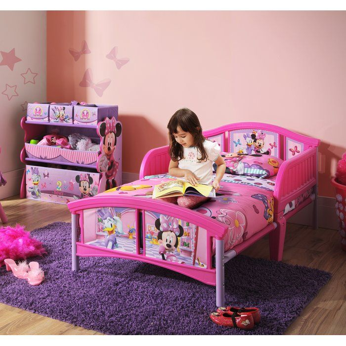 Minnie Mouse Plastic Toddler Bed Kids Bedroom Sets Girls