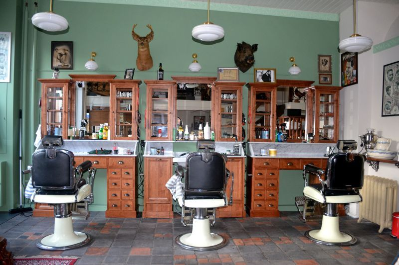 Salon Inrichting Meubels : Barbershop inrichting ben lamers meubelen op maat barbershop