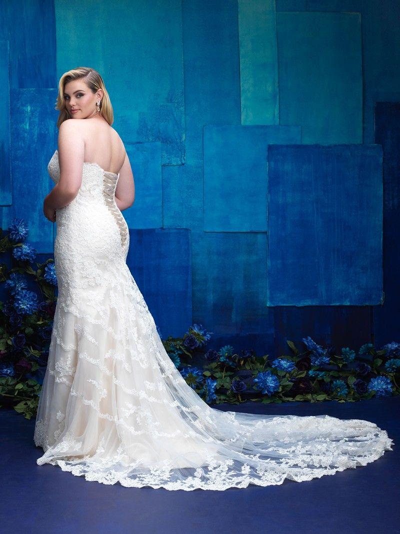 Allure Bridals W391 Plus Size Bridal Gown. #weddingdresses #wedding ...