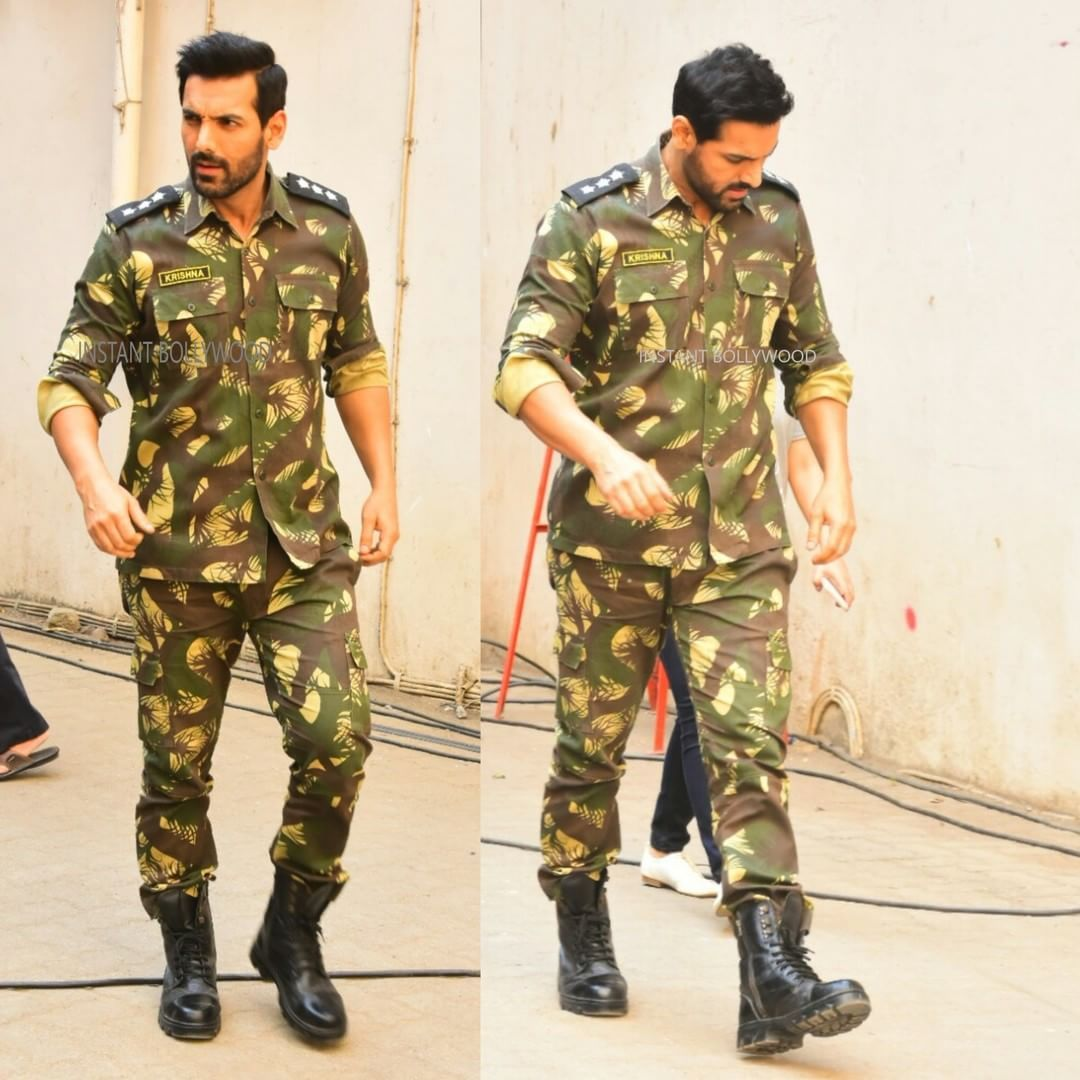 John Abraham Snappped In Indian Army Officer Uniform -2585