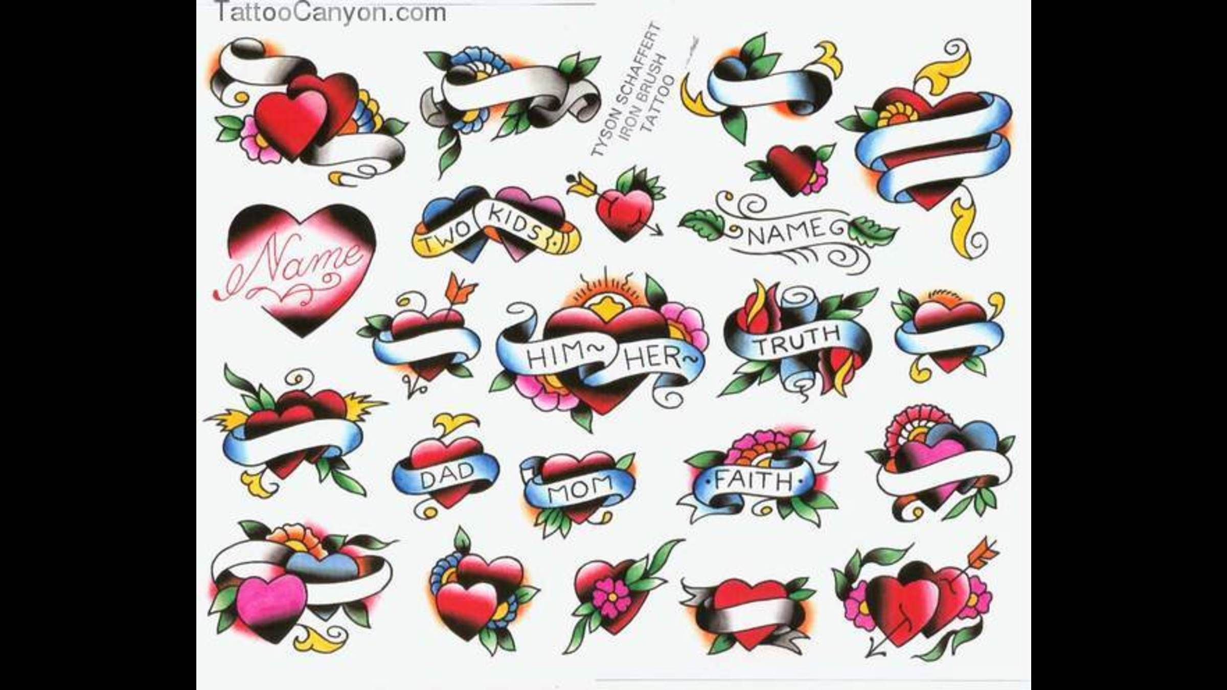 Name Banner Heart With Rose Foot Tattoo Design Photo