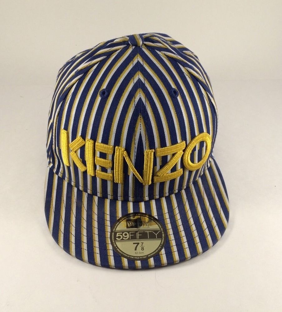 Kenzo Striped Baseball Cap Hat Size 7 7 8 inches 62.5 cm Blue Yellow White   KENZO  BaseballCap 0fd777966ce