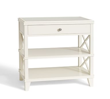 clara lattice wide bedside table #potterybarn. large 32wx18dx30h