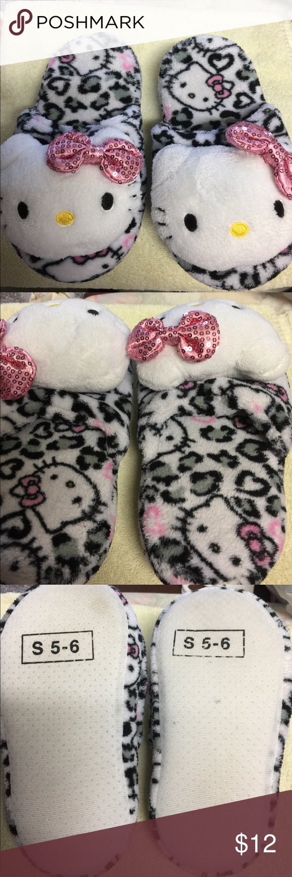 Hello kitty slippers Hello kitty slippers in excellent condition Hello Kitty Shoes Slippers