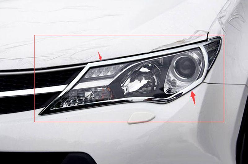 Car Headlight Lamp Cover Trim For Toyota Rav4 2013 2014 2015 Affiliate Headlight Covers Interior Accessories Lamp Cover