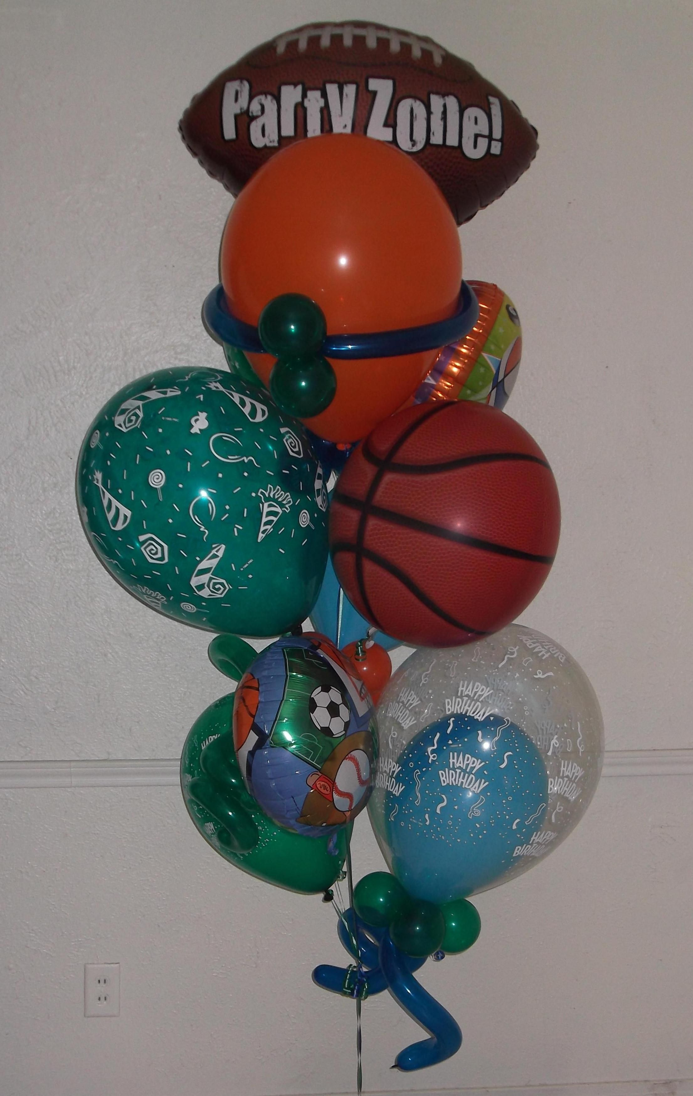 Lets Take It To The Party Zone Small Balloon Bouquet Arrangement 83 Same Day Delivery In