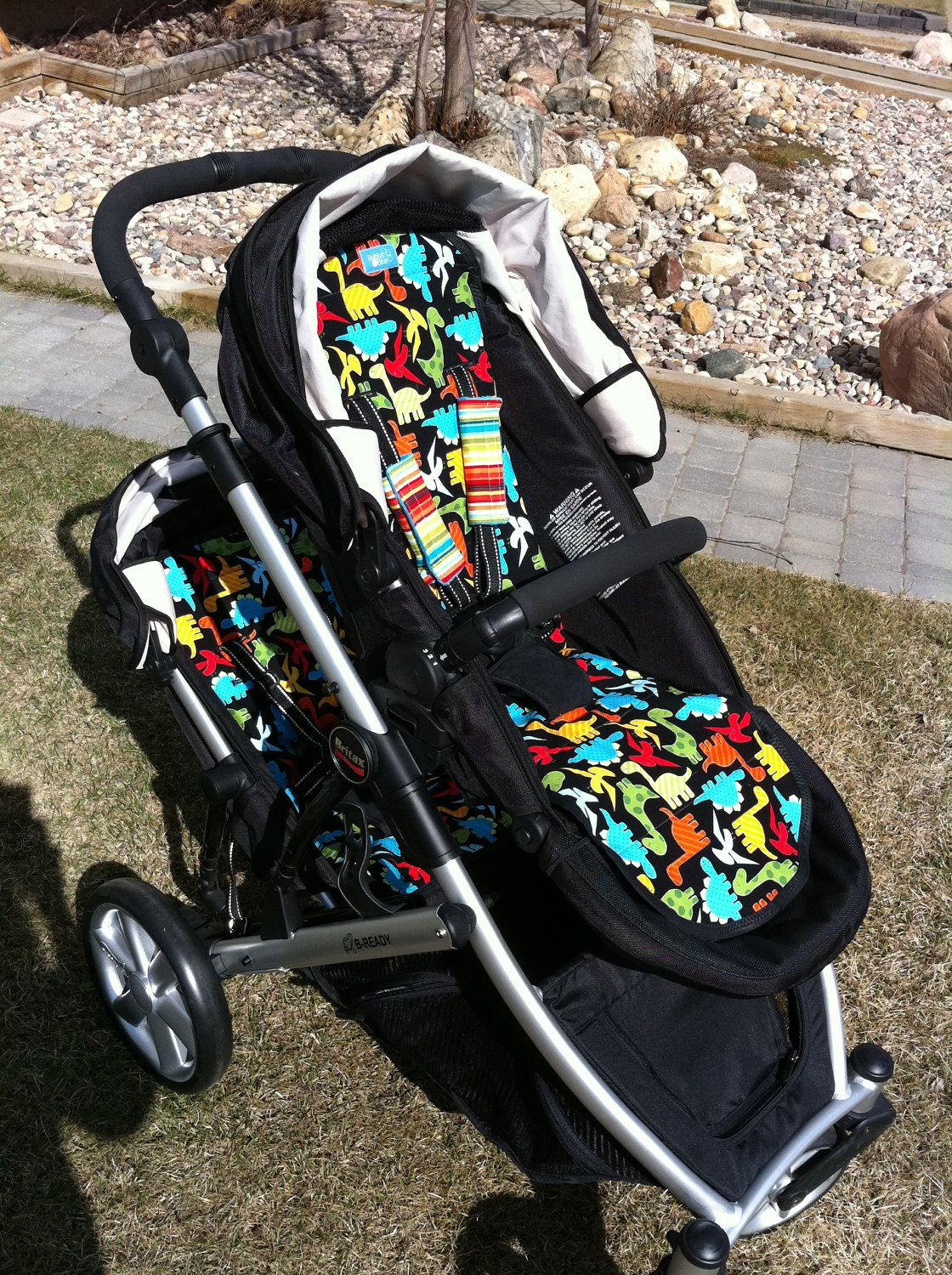 Reversible Britax B-Ready stroller liner , second  seat liner available too. $50.00, via Etsy.