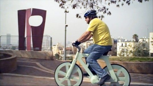 Izhar Gafni's Incredibly Sturdy, Lightweight Cardboard Bicycle Costs Just $10 to Make!