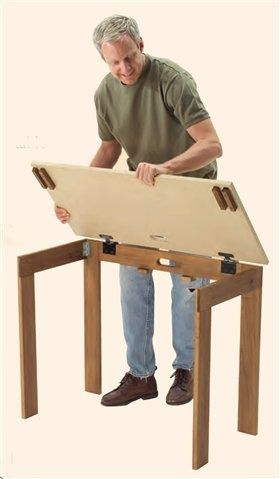What Type Of Hinges Are Used On The Top Of This Folding Table Diy Woodworking Popular Woodworking Woodworking