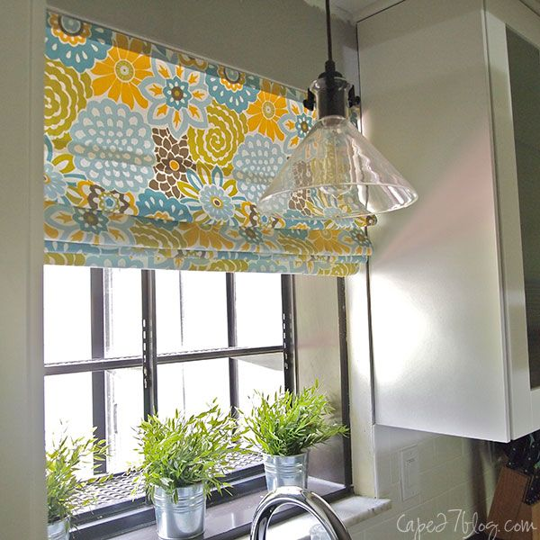No Sew Kitchen Curtains: When I Am An Ex-renter...