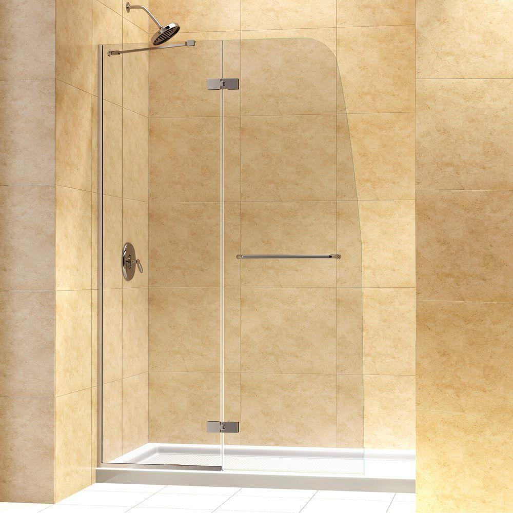 Frameless Hinged Shower Door And Panel.Dreamline Aqua Ultra 45 Inch Frameless Hinged Shower Door