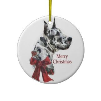 Harlequin Great Dane Christmas Gifts Ornament Ornament Gifts
