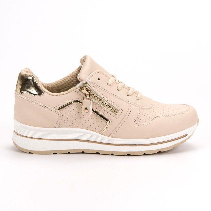 Bezowe Buty Sportowe Bezowy