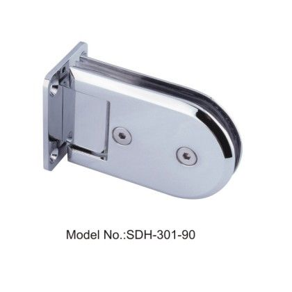 90 Degree Oblong Shape Shower Door Hinges Glass To Wall Polished
