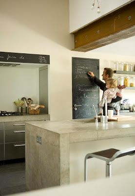 Concrete Island Feature Kitchen Bench Must Have Deep Overhang For Breakfast Bar Casual Dining With Stools