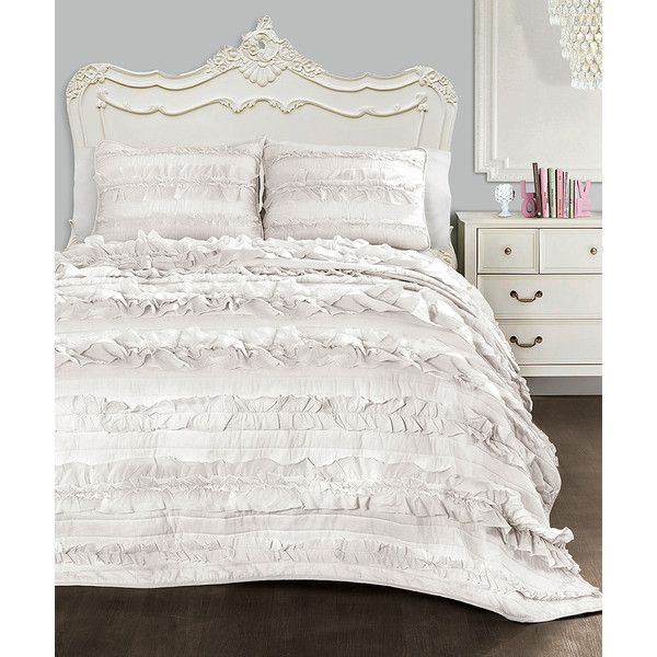 Lush Decor Belle Bedding Lush Décor White Belle Quilt Set $85 ❤ Liked On Polyvore