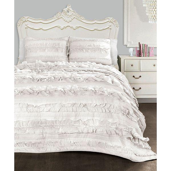 Lush Décor White Belle Quilt Set 40 Liked On Polyvore Impressive Lush Decor Belle Bedding