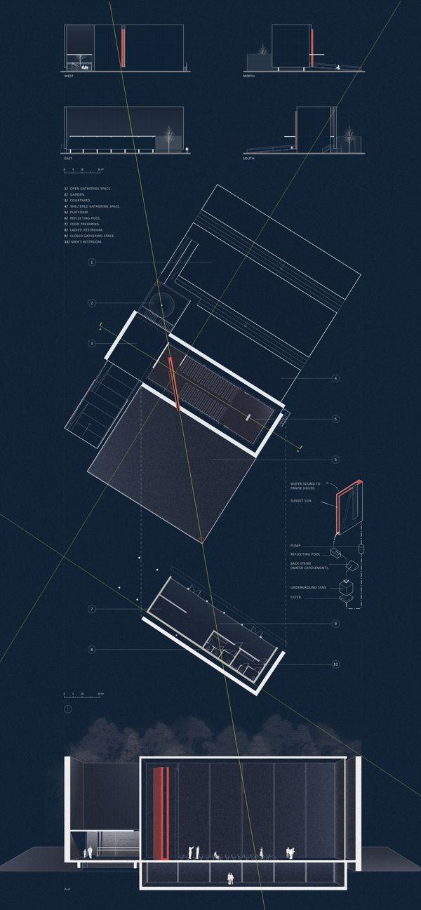Architecture blueprint presentation pinterest laminas architecture blueprint malvernweather Gallery