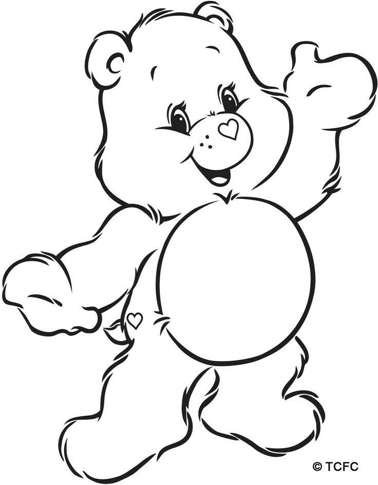 Pin The Belly Badge On The Care Bear Glucksbarchi Party Care