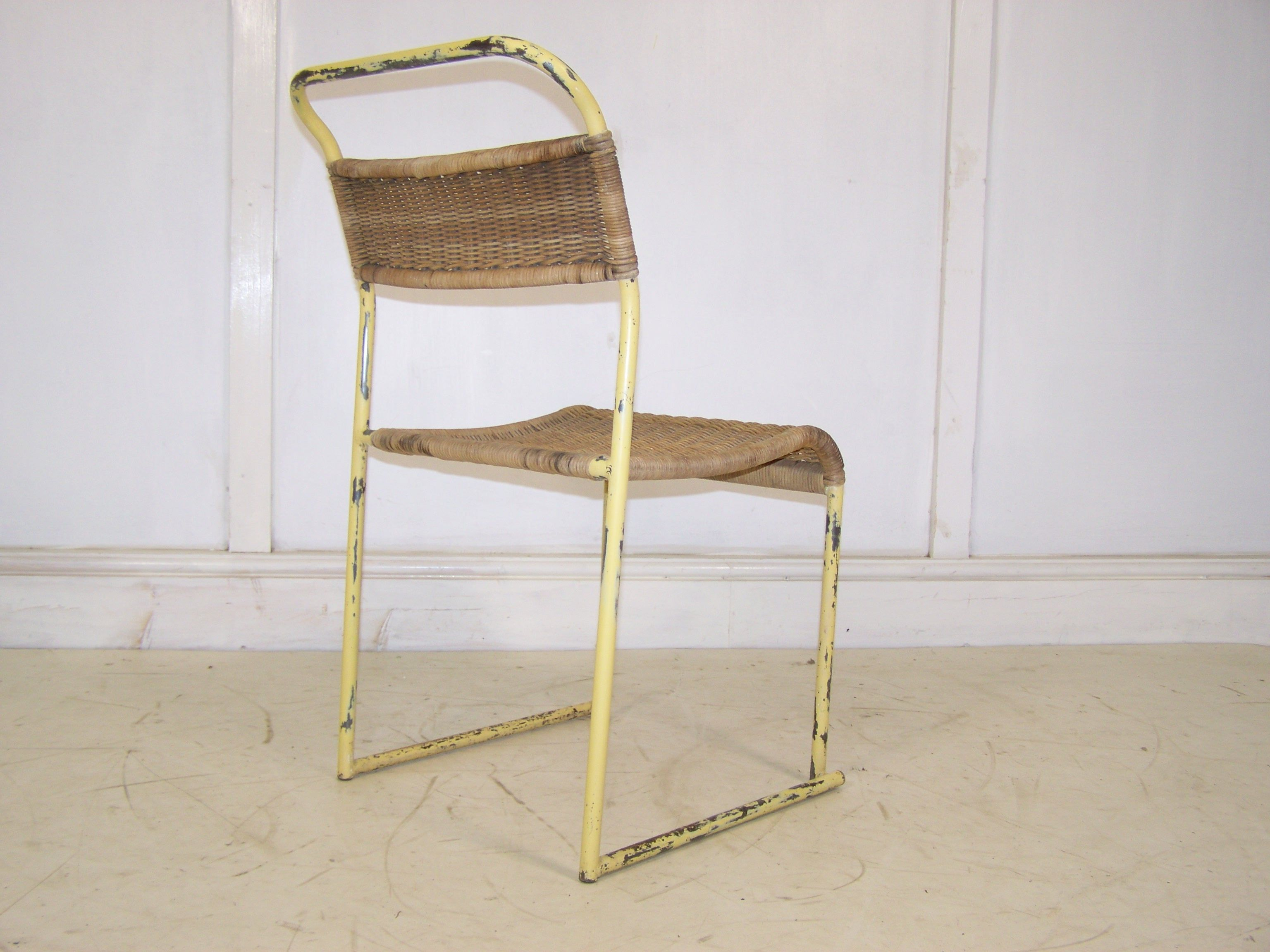 bauhaus stacking chair rarest Bruno pollack chair with the weaved